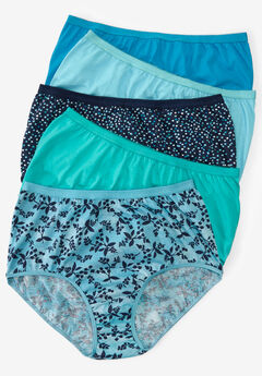 10-Pack Pure Cotton Full-Cut Brief by Comfort Choice®, BLOSSOM DOT PACK