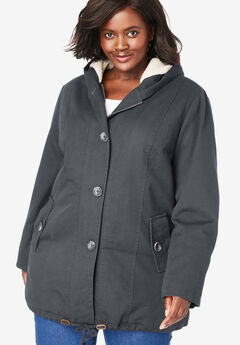 Sherpa-Lined Hooded Parka,