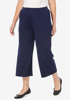 Ponte Knit Cropped Pants,
