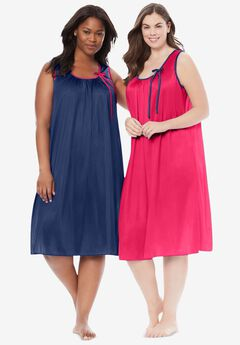 2-Pack Sleeveless Nightgown ,