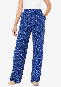 Printed Pull-On Pants,