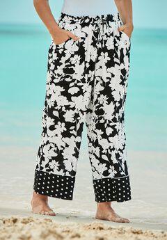 Wide-Leg Pant Swim Cover-Up Pant by Swim 365,