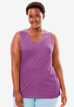 Cotton Sleep Tank by Dreams & Co.®, RADIANT ORCHID