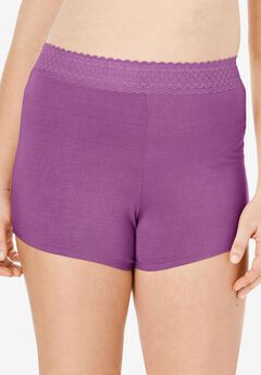 Lace Waistband Boyshort ,