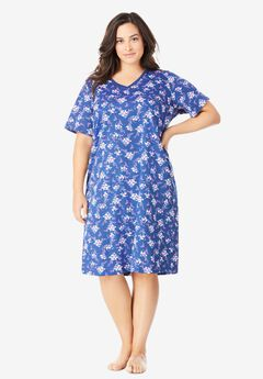 Print Sleepshirt by Dreams & Co.®, EVENING BLUE FLORAL
