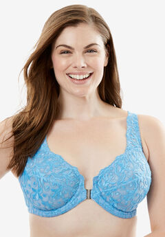 Embroidered Front-Close Underwire Bra by Amoureuse®,