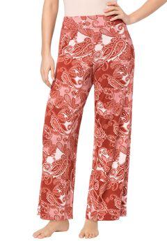 Wide Leg Print Pants,