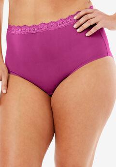 Lace-Trim Microfiber Full-Cut Brief by Comfort Choice®,