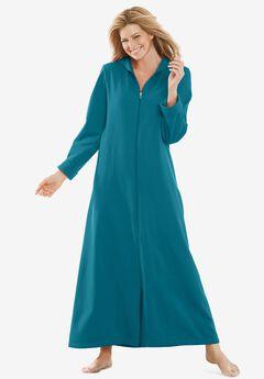 Hooded Fleece Robe , DEEP TEAL