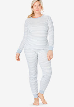 Thermal Lounge Pant by Comfort Choice®, PEARL GREY STRIPE