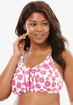 Cotton Everyday Wireless Leisure Bra by Comfort Choice®, MULTI BERRY FLORAL
