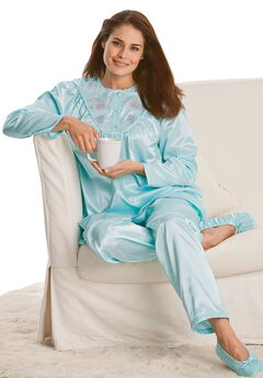 Brushed Satin 2-Piece PJ Set by Only Necessities®,