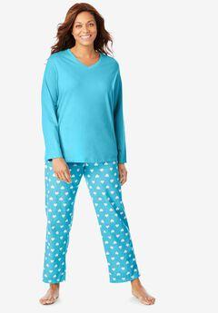 Long-Sleeve Sleep Tee by Dreams & Co.®, CARIBBEAN BLUE