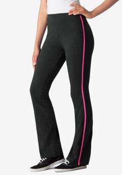 Stretch Cotton Side-Stripe Bootcut Pant,