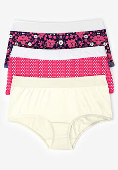 3-Pack Color Block Full-Cut Brief by Comfort Choice®, RASPBERRY PINK ASSORTED