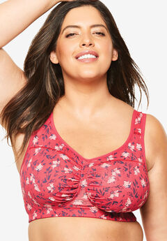Wireless Ruched Bra by Comfort Choice®,