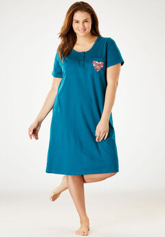 5d6218f87a Plus Size Sleepshirts for Women
