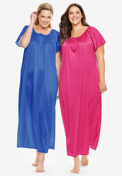 2-Pack Long Nightgown Set by Only Necessities®,