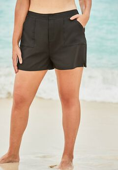 Cargo Swim Shorts with Side Slits by Swim 365,