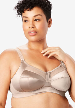 Goddess® Keira Satin Wireless Bra #6093,