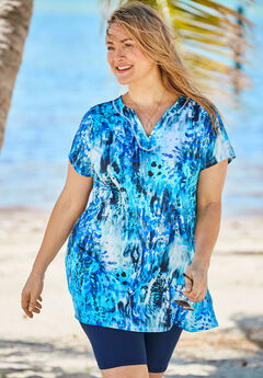 Short-Sleeve Swim Tunic ,