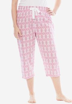 Print Pajama Capri by Dreams & Co.®,