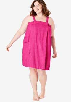 Dreams & Co.® Terry Towel Wrap, PINK BURST