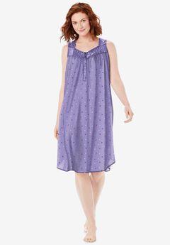 Pintuck Cooling Sleeveless Sleepshirt,