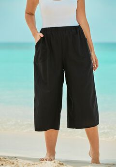 Wide-Leg Culotte Pant ,