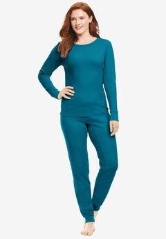 Thermal Long Sleeve Tee , DEEP TEAL