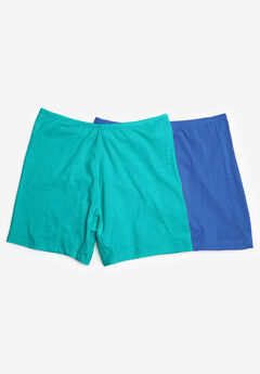 2-Pack Stretch Cotton Boxer Boyshort by Comfort Choice®,