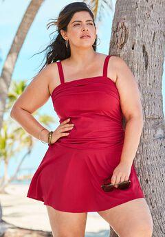 Contrast Band Swim Dress by Swim 365,