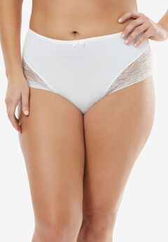 Lace Full-Cut Brief by Amoureuse®, IVORY