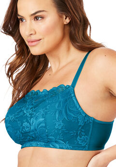 Lace Wireless Cami Bra by Comfort Choice®, RIVER BLUE