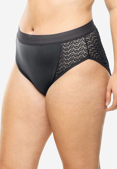 Lace Sides High-Cut Brief by Comfort Choice®,