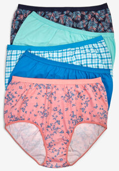 183ba16d5 5-Pack Pure Cotton Full-Cut Brief by Comfort Choice®