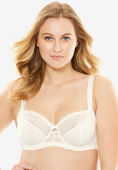 Lace-Trim Underwire Bra by Amoureuse®,