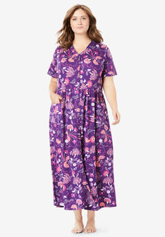 Dreams & Co.® Snap Front Lounger, RICH VIOLET FLORAL
