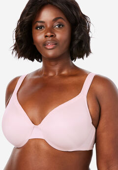 Lace Trim Microfiber Underwire T-Shirt Bra by Comfort Choice®,