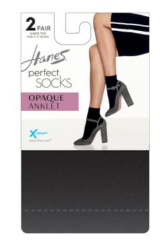Hanes Perfect Socks Opaque Anklet P2 ST,