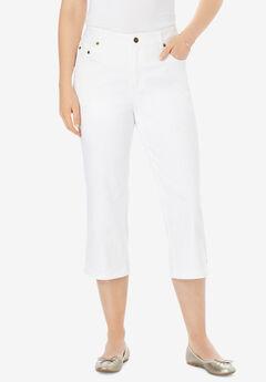 Capri Stretch Jean, WHITE