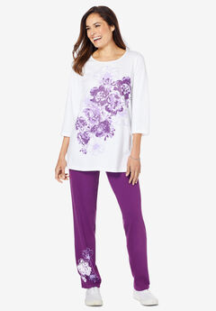Floral Tee and Pant Set,