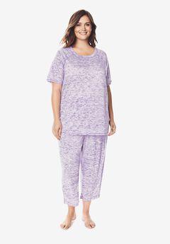 Marled Capri Pajama Set,