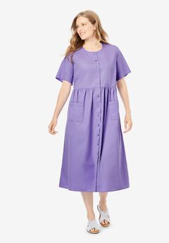Short-Sleeve Denim Dress,