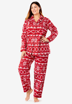 Printed Flannel PJ Set by Dreams & Co.®,