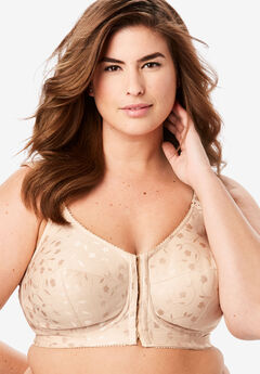Elila® Jacquard Front-Close Wireless Bra #1515,