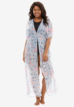 Long Floral Duster by Amoureuse®,