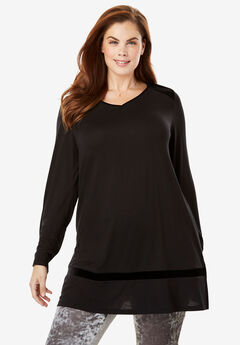 Velvet Accented Sleep Tunic by Dreams & Co.®,