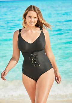 Ribbed Underwire One-Piece,