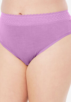 Lace Waistband High-Cut Brief by Comfort Choice®,